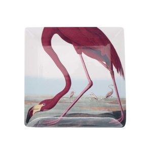 Farfurie pentru aperitiv crem cu imprimeu flamingo Magpie Birds de la Zoot.ro