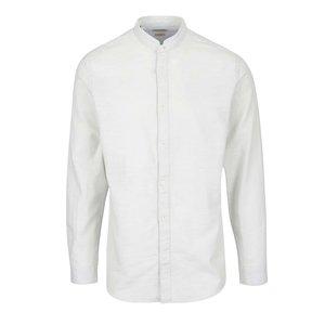 Cămașă albastru deschis Selected Homme One Jacque slim fit din bumbac cu model discret și guler tunică de la Zoot.ro