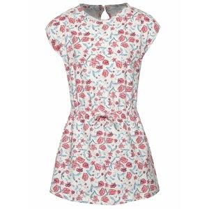 Rochie albă name it Halo cu model floral și guler tunică