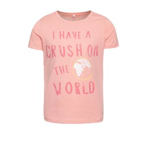 Tricou roz name it Vixida cu print de la Zoot.ro