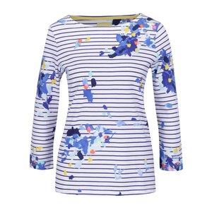 Bluză albastru & alb Tom Joule Harbour Print cu mâneci trei sferturi și model floral de la Zoot.ro
