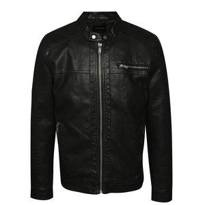 Jachetă neagră ONLY & SONS Nicky din piele ecologică de la Zoot.ro