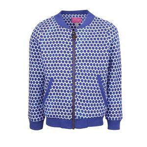 Jachetă bomber alb & albastru Tom Joule cu model pentru fete