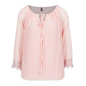 Bluză roz pudrat Madonna Bine cu mâneci 3/4 de la Zoot.ro