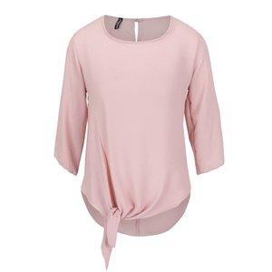 Bluză roz pudrat Madonna Amylee cu nod decorativ de la Zoot.ro