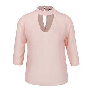 Bluză roz pal Madonna Chispy cu decupaj en coeur de la Zoot.ro