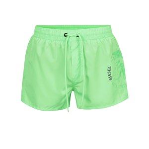Pantaloni scurți verzi pentru baie Diesel cu talie elastică