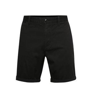 Pantaloni chino scurți negri Quiksilver cu tiv îndoit și croi drept de la Zoot.ro
