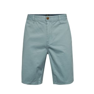 Pantaloni chino scurți albastru deschis Quiksilver din bumbac cu croi drept