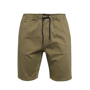 Pantaloni scurți bej Quiksilver cu talie elastică de la Zoot.ro