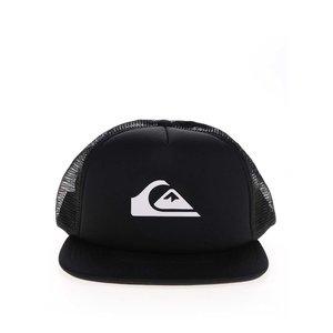 Șapcă snapback neagră Quiksilver cu aplicație cu logo și detaliu din plasă de la Zoot.ro