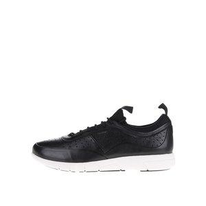 Pantofi sport negri Geox Brattley din piele cu logo de la Zoot.ro