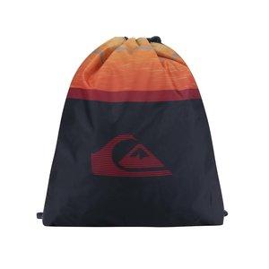 Rucsac albastru & portocaliu Quiksilver cu model și logo