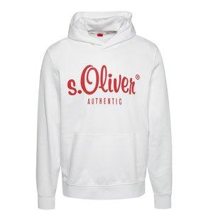 Hanorac alb s.Oliver cu print pentru bărbați