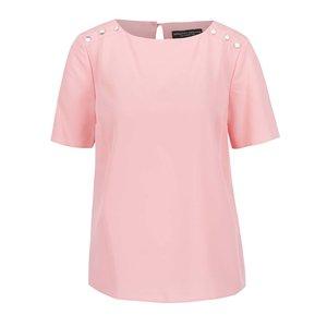 Bluză roz pal Dorothy Perkins cu nasturi decorativi de la Zoot.ro