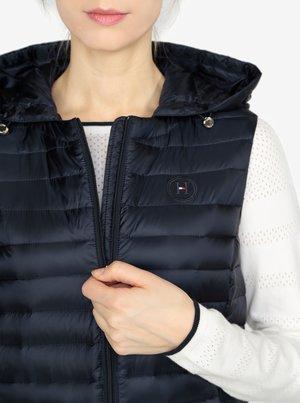 e62a9bdabea3 Tmavomodrá prešívaná vesta Tommy Hilfiger - Dámske oblečenie