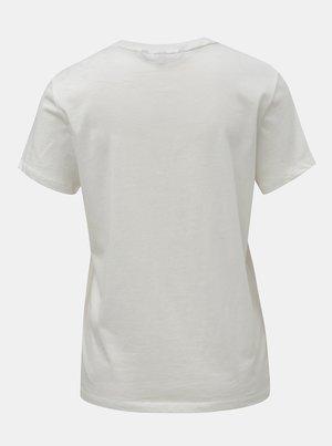 957893109e Biele tričko s potlačou v zlatej farbe VERO MODA Fancy - Dámske ...
