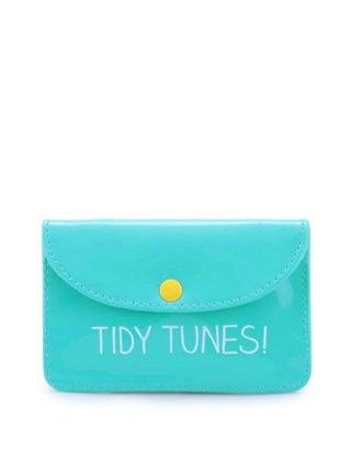 Modrozelené pouzdro na sluchátka Happy Jackson Tidy Tunes