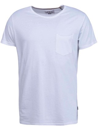 Tricou basic alb din bumbac  -  Shine Original Andy