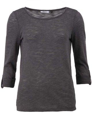 Bluza gri inchis cu maneci 3/4 - ONLY Jess