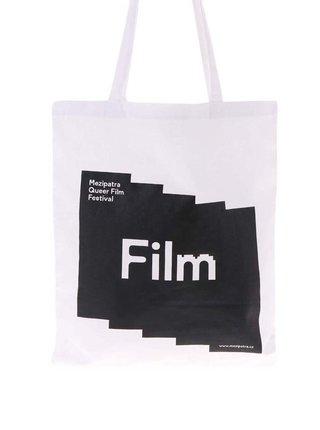 """""""Dobrá"""" bílá plátěná taška pro Mezipatra"""