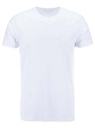 Bílé basic tričko s krátkým rukávem Jack & Jones Basic