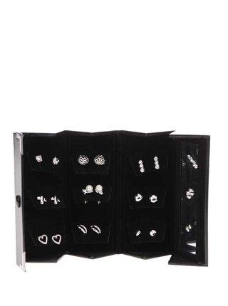 Sada náušníc v striebornej farbe v darčekovej kazete so zrkadlom Pierre Cardin