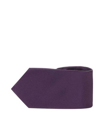 Cravata violet inchis din matase - Selected Homme Plain