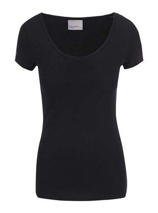 Černé basic tričko s kulatým výstřihem VERO MODA Maxi My