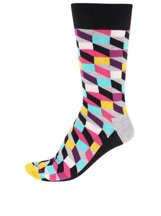 Farebné unisex ponožky so vzorom Happy Socks Filled Optic