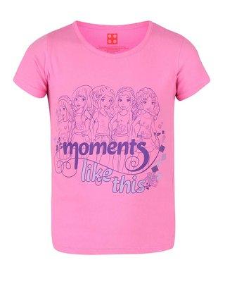 Ružové dievčenské tričko s potlačou LEGO Wear M-70006