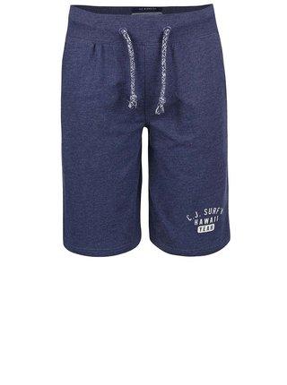 Tmavomodré chlapčenské teplákové kraťasy Cars Jeans Senio