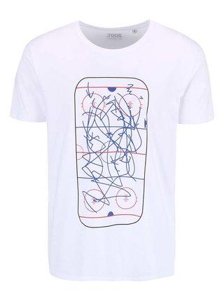 Tricou alb cu print mazgalit pentru barbati ZOOT Original