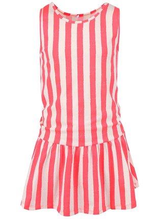 b51ddcebc2 Koralové dievčenské pruhované šaty name it Helen
