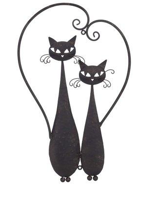 Nástenná dekorácia v tvare dvoch mačiek Dakls