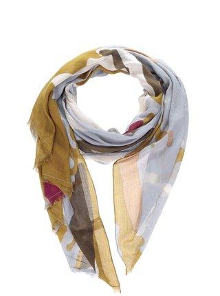 Modrošedý šátek Pieces Blanca