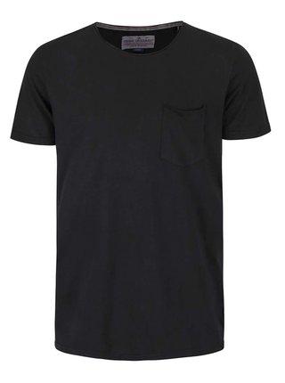 Čierne tričko s krátkym rukávom Shine Original Andy