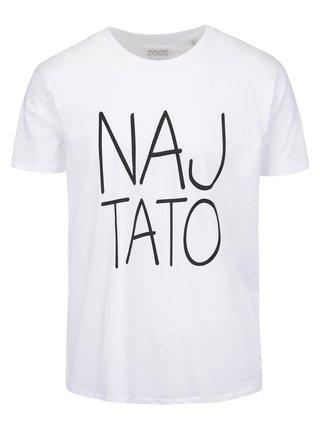 Biele pánske tričko s potlačou ZOOT Originál Naj tato