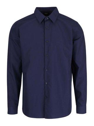 Tmavomodrá slim fit košeľa Burton Menswear London