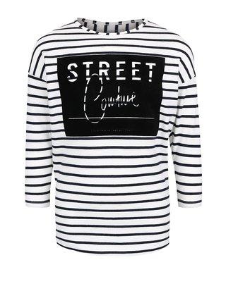 Krémové dievčenské triko s dlhým rukávom name it Karina