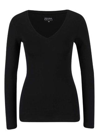 Čierne basic tričko s dlhým rukávom TALLY WEiJL