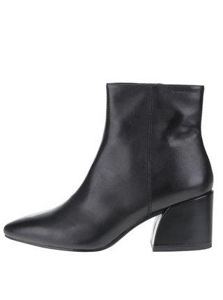 Čierne dámske kožené členkové topánky Vagabond Olivia