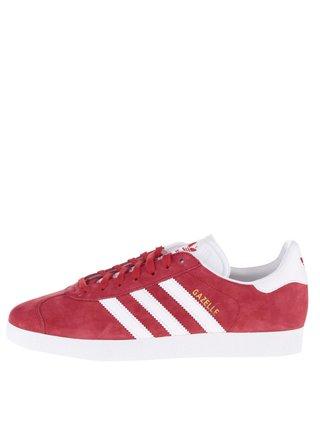 Červené semišové tenisky adidas Originals Gazelle