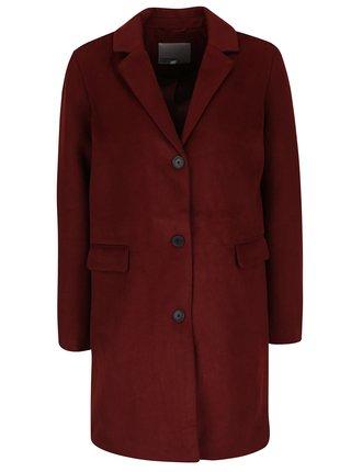 Palton rosu caramiziu cu buzunare VERO MODA Lien