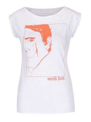 Bílé dámské tričko bez rukávů Bez Jablka Žofré
