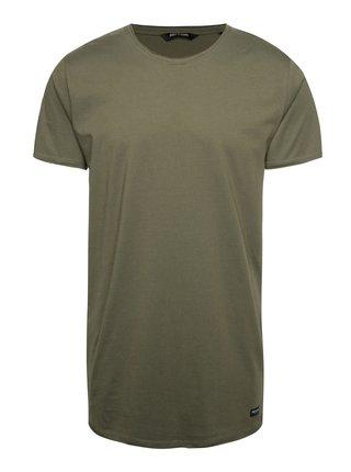 Kaki dlhšie tričko ONLY & SONS Long