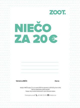 Elektronický poukaz na niečo zo ZOOTu v hodnote 20 €