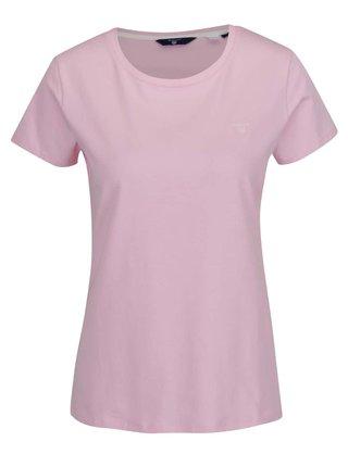 Svetloružové dámske tričko GANT