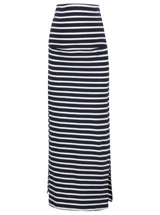 Modro-bílá pruhovaná těhotenská sukně Mama.licious Lea