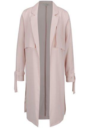 Svetloružový tenký kabát Miss Selfridge